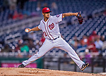 23 May 2017: Washington Nationals starting pitcher Joe Ross on the mound in the second inning against the Seattle Mariners at Nationals Park in Washington, DC. The Nationals defeated the Mariners 10-1 to take the first game of their inter-league series. Mandatory Credit: Ed Wolfstein Photo *** RAW (NEF) Image File Available ***