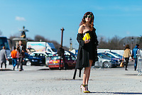 Valentina Siragusa at Paris Fashion Week (Photo by Hunter Abrams/Guest of a Guest)
