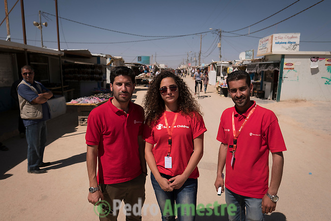 2016/04/19. Jordania Zaatari.<br />  M&aacute;s de 86.000 refugiados sirios viven en el campo de Zaatari, en Jordania. De ellos, el 60% son ni&ntilde;os. Las familias esperan poder regresar a Siria cuando termine la guerra. Save the Children trabaja en Zaatari apoyando a las familias con servicio de guarder&iacute;a y refuerzo educativo para los ni&ntilde;os hasta 12 a&ntilde;os. La organizaci&oacute;n tambi&eacute;n reparte alimentos y atiende a los refugiados sirios que viven fuera de Zaatari, en ciudades como Amman. &copy; Pedro Armestre/ Save the Children Handout. No ventas -No Archivos - Uso editorial solamente - Uso libre solamente para 14 d&iacute;as despu&eacute;s de liberaci&oacute;n. Foto proporcionada por SAVE THE CHILDREN, uso solamente para ilustrar noticias o comentarios sobre los hechos o eventos representados en esta imagen.<br /> <br /> 2016/04/19. Jordania Zaatari.<br />  More tan 86.000 Syrian refugees live in the Zaatari camp, in Jordan. Of these, 60% are children. The families hope to return to Syria after the war. Save the Children works in Zaatari supporting families with childcare and educational support for children. The organization also distributes food and works with the families outside Zaatari, in cities like Amman. &copy; Pedro Armestre/ Save the Children Handout - No sales - No Archives - Editorial Use Only - Free use only for 14 days after release. Photo provided by SAVE THE CHILDREN, distributed handout photo to be used only to illustrate news reporting or commentary on the facts or events depicted in this image.