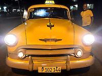 HAVANA-CUBA - 09.10.2016: Taxi estacionado no bairro Vedado, em Havana, Cuba.  (Foto: Bete Marques/Brazil Photo Press)
