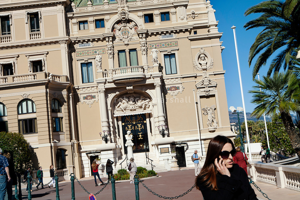 Monte Carlo Casino, seen from the Avenue de Monte Carlo, Monte Carlo, Monaco, 21 March 2013