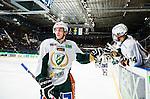 Stockholm 2014-01-18 Ishockey SHL AIK - F&auml;rjestads BK :  <br /> F&auml;rjestads Pontus &Aring;berg har gjort 1-0 och gratuleras av lagkamrater F&auml;rjestads Oliver Kylington <br /> (Foto: Kenta J&ouml;nsson) Nyckelord:  jubel gl&auml;dje lycka glad happy