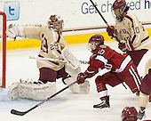 Corinne Boyles (BC - 29), Gina McDonald (Harvard - 10), Blake Bolden (BC - 10) - The Boston College Eagles defeated the visiting Harvard University Crimson 3-1 in their NCAA quarterfinal matchup on Saturday, March 16, 2013, at Kelley Rink in Conte Forum in Chestnut Hill, Massachusetts.