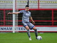 Lincoln City's Jason Shackell<br /> <br /> Photographer Andrew Vaughan/CameraSport<br /> <br /> The EFL Sky Bet League One - Accrington Stanley v Lincoln City - Saturday 15th February 2020 - Crown Ground - Accrington<br /> <br /> World Copyright © 2020 CameraSport. All rights reserved. 43 Linden Ave. Countesthorpe. Leicester. England. LE8 5PG - Tel: +44 (0) 116 277 4147 - admin@camerasport.com - www.camerasport.com