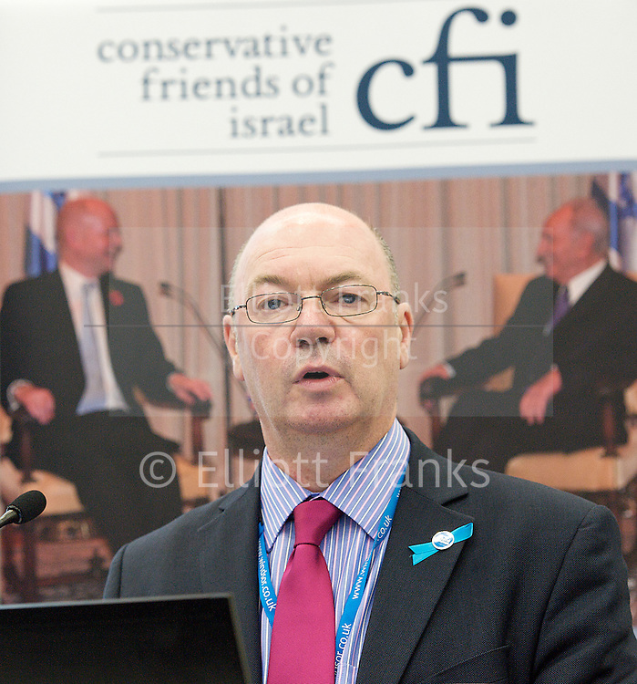 Conservative Party Conference, Manchester, Great Britain <br /> 3rd October 2011 <br /> <br />  Conservative Friends of Israel <br /> fringe meeting <br /> <br /> with <br /> <br /> Alistair Burt <br /> Parliamentary Under Secretary of State Foreign &amp; Commonwealth Office<br /> <br /> <br /> <br /> Photograph by Elliott Franks