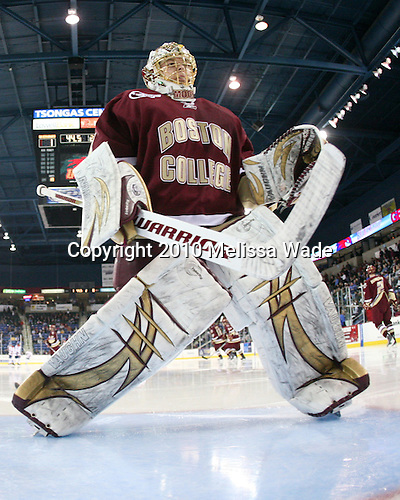 John Muse (BC - 1) - The University of Massachusetts-Lowell River Hawks defeated the Boston College Eagles 3-1 (EN) on Saturday, January 23, 2010, at Tsongas Arena in Lowell, Massachusetts.