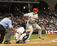 Phillies OF Pat Burrell on Saturday May 24th at Minute Maid Park in Houston, Texas. Photo by Andrew Woolley / Four Seam Images.