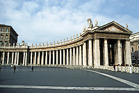 Italy: Rome--Piazza S. Pietro (St. Peter's Square). Giovanni Lorenzo Bernini, architect. Photo '82.