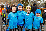 Aaron Horgan, Zac Walsh, Jamie O'Sullivan and Kevin Horgan from St Brendans Athletic Club Ardfert at the Junior Parkrun in the Tralee Town park on Sunday morning last.