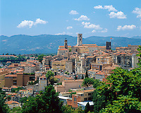 France, Provence, Grasse: View over Town | Frankreich, Provence, Grasse: Dorfansicht