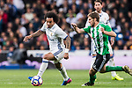 Marcelo Vieira Da Silva (l) of Real Madrid competes for the ball with Darko Brasanac of Real Betis during their La Liga match between Real Madrid and Real Betis at the Santiago Bernabeu Stadium on 12 March 2017 in Madrid, Spain. Photo by Diego Gonzalez Souto / Power Sport Images