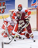 John Curry, Tom Morrow, Dan Bertram - The Boston College Eagles defeated the Boston University Terriers 5-0 on Saturday, March 25, 2006, in the Northeast Regional Final at the DCU Center in Worcester, MA.