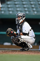 South Bend Silver Hawks catcher Michael Perez (7) during a game against the Dayton Dragons on August 20, 2014 at Four Winds Field in South Bend, Indiana.  Dayton defeated South Bend 5-3.  (Mike Janes/Four Seam Images)