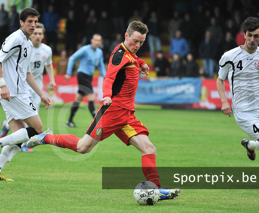 Georgia U19 - Belgium U19 : Rob Schoofs (10)<br /> foto DAVID CATRY / Nikonpro.be