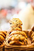 Cary, North Carolina - Saturday September 19, 2015 - White and dark chocolate scones at La Farm Bakery in Cary, North Carolina.