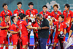Japan team group, <br />  Siegfried Aikman (JPN), <br /> SEPTEMBER 1, 2018 - Hockey : <br /> Men's Medal ceremony <br /> at Gelora Bung Karno Hockey Field <br /> during the 2018 Jakarta Palembang Asian Games <br /> in Jakarta, Indonesia. <br /> (Photo by Naoki Nishimura/AFLO SPORT)