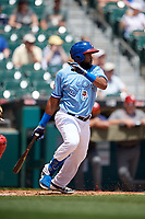 Buffalo Bisons Socrates Brito (51) at bat during an International League game against the Lehigh Valley IronPigs on June 9, 2019 at Sahlen Field in Buffalo, New York.  Lehigh Valley defeated Buffalo 7-6 in 11 innings.  (Mike Janes/Four Seam Images)