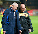 :: RANGERS MANAGER WALTER SMITH AND DUNDEE UTD MANAGER PETER HOUSTON AT THE END OF THE GAME :: .19/04/2011   Copyright  Pic : James Stewart.sct_jsp026_dundee_utd_v_rangers .James Stewart Photography 19 Carronlea Drive, Falkirk. FK2 8DN      Vat Reg No. 607 6932 25.Telephone      : +44 (0)1324 570291 .Mobile              : +44 (0)7721 416997.E-mail  :  jim@jspa.co.uk.If you require further information then contact Jim Stewart on any of the numbers above.........