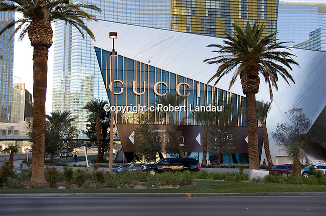 Exterior of the Gucci Boutique at Crystals retail complex on the Strip in Las Vegas, Nevada
