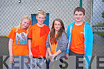Adam Raymond, Michael Dowling, Anna Sikora, Simon Pierce at the Mercy Mounthawk School Fun Run to promote the Cycle Against Suicide Campaign on Friday