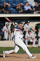Aaron Barnett #33 of the Pepperdine Waves bats during a game against the Tulane Green Wave at Eddy D. Field Stadium on March 13, 2015 in Malibu, California. Tulane defeated Pepperdine, 9-3. (Larry Goren/Four Seam Images)