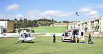 """Un varón de uno 50 años es trasladado en helicoptero al hospital de Castellón tras sufrir una fractura de tibia y peroné al resbalar y caer en el paraje de """"La Vuelta de la Hoz"""" en el término municipal de Jérica.<br />  Jérica (Castellón - Spain).<br /> 14 de agosto de 2018."""