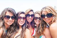 An assortment of eyewear at F & S Sunglasses, fssunglasses.com, Fort Myers Beach, July 27, 2012. Photo by Debi Pittman Wilkey/Coastal Life Magazine.