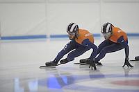 SHORTTRACK: LEEUWARDEN: Elfstedenhal, 28-09-2016, Kick-off Shorttrackploeg seizoen 2016/2017, Training Sjinkie Knegt en Daan Breeuwsma, ©foto Martin de Jong