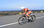 KAILUA-KONA, HI - OCTOBER 12:  Rachel Joyce of Great Britain competes in the bike portion during the 2013 Ironman World Championship on October 12, 2013 in Kailua-Kona, Hawaii. (Photo by Donald Miralle) *** Local Caption ***