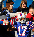 29 November 2009: Buffalo Bills' wide receiver Justin Jenkins gets some love from fans prior to a game against the Miami Dolphins at Ralph Wilson Stadium in Orchard Park, New York. The Bills defeated the Dolphins 31-14. Mandatory Credit: Ed Wolfstein Photo