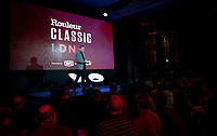 "Matt Stevens welcoming his guests <br /> <br /> Rouleur Classic London 2019<br /> ""The World's Finest Road Cycling Exhibition""<br /> <br /> ©kramon"