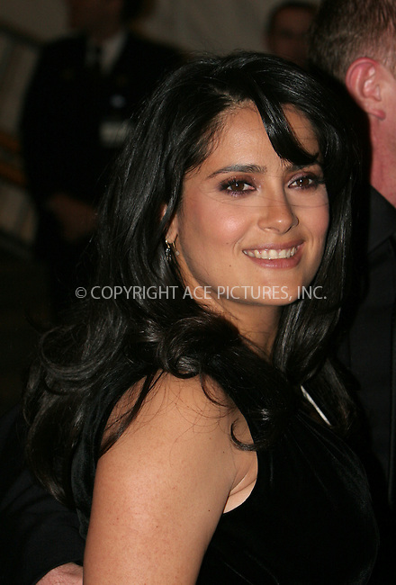 WWW.ACEPIXS.COM . . . . .  ....May 7 2007, New York City....Salma Hayek....Costume Institute at the Metropolitain Museum Gala 2007 exits.....Please byline: NANCY RIVERA- ACE PICTURES.... *** ***..Ace Pictures, Inc:  ..tel: (646) 769 0430..e-mail: info@acepixs.com..web: http://www.acepixs.com