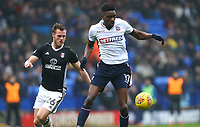Bolton Wanderers'  Sammy Ameobi wins the ball against TomaS Kalas of Fulham <br /> <br /> Photographer Leila Coker/CameraSport<br /> <br /> The EFL Sky Bet Championship - Bolton Wanderers v Fulham - Saturday 10th February 2018 - Macron Stadium - Bolton<br /> <br /> World Copyright &copy; 2018 CameraSport. All rights reserved. 43 Linden Ave. Countesthorpe. Leicester. England. LE8 5PG - Tel: +44 (0) 116 277 4147 - admin@camerasport.com - www.camerasport.com