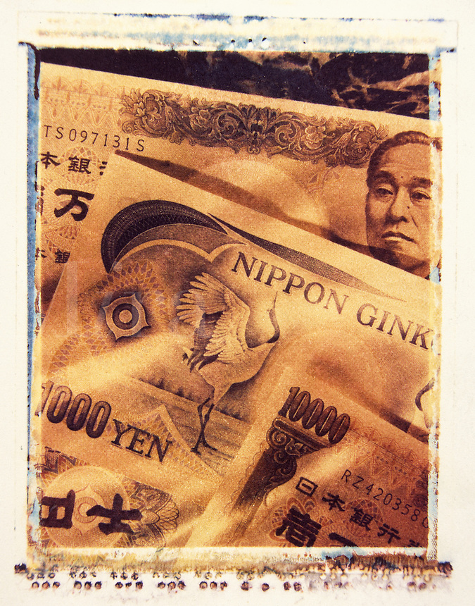 Japanese paper currency.