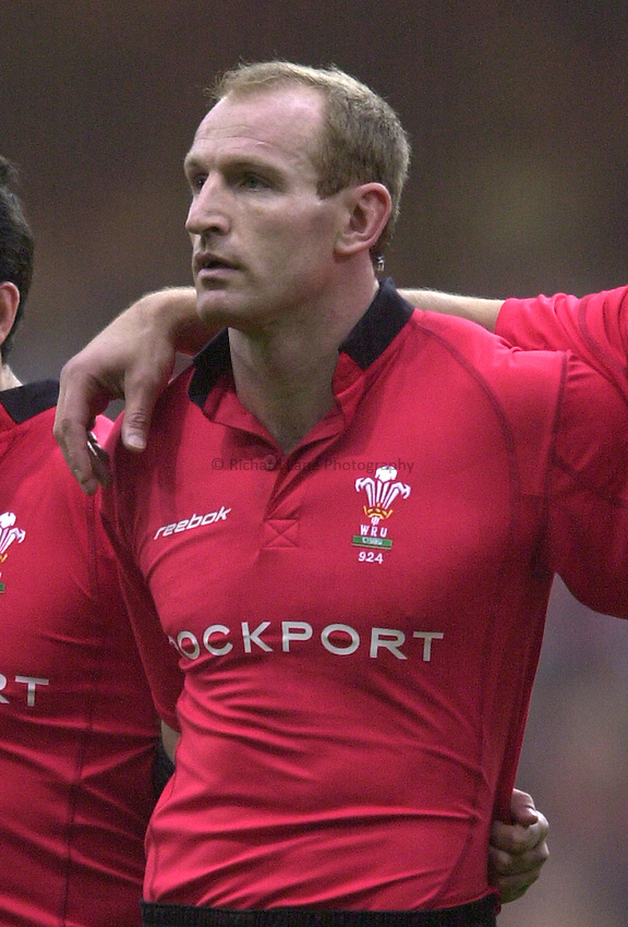 Photo. © Peter Spurrier/Richard Lane Photography.14/02/2004  -  RBS Six Nations Championship 2004.Wales v Scotland:.Gareth Thomas