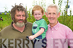 Pictured at the Killorglin Pony Show on Sunday were Dan and Donal Murphy with Dan McCarthy, Mlltown.