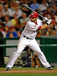 16 August 2008: Washington Nationals' infielder Kory Casto at bat against the Colorado Rockies at Nationals Park in Washington, DC.  The Rockies defeated the Nationals 13-6, handing the last place Nationals their 9th consecutive loss. ..Mandatory Photo Credit: Ed Wolfstein Photo
