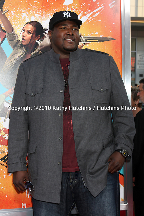 "Quinton Aaron.arrives at ""The Losers"" Premiere.Grauman's Chinese Theater.Los Angeles, CA.April 20, 2010.©2010 Kathy Hutchins / Hutchins Photo..."