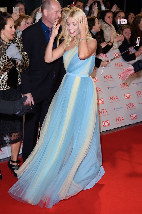 Holly Willoughby<br /> arriving for the National Television Awards 2018 at the O2 Arena, Greenwich, London<br /> <br /> <br /> ©Ash Knotek  D3371  23/01/2018