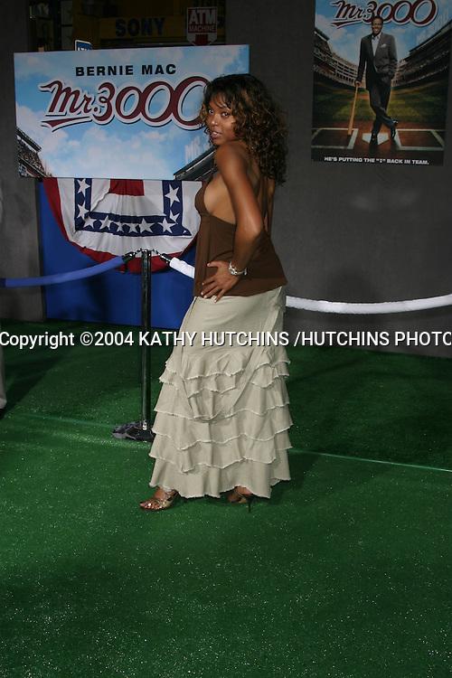 "©2004 KATHY HUTCHINS /HUTCHINS PHOTO.PREMIERE OF ""MR. 3000"".HOLLYWOOD, CA.SEPTEMBER 8, 2004..TARAJI HENSON."