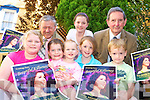 Killarney Councillors and Jessie Buckley's family with the postcards which will be distributed in Killarney this week to be sent to UK to help raise support for Jessie Buckley for the BBC musical show I'll Do Anything. Front l-r: Julia, Aoife, Lily, Roisin and Ronan Buckley. Back l-r: Cllr Donal O'Grady, Emer Buckley and Cllr Michael Courtney.   Copyright Kerry's Eye 2008