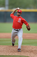 Los Angeles Angels of Anaheim pitcher Keynan Middleton (48) during an Instructional League game against the Arizona Diamondbacks on October 7, 2014 at Salt River Fields at Talking Stick in Scottsdale, Arizona.  (Mike Janes/Four Seam Images)