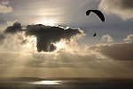 LA JOLLA, CA - JANUARY 27:  A general view of a paraglider during the Final Round at the Farmers Insurance Open at Torrey Pines Golf Course on January 27, 2013 in La Jolla, California. (Photo by Donald Miralle/Getty Images)