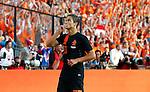 Nederland, Rotterdam, 30 mei 2012.Oefeninterland .Nederland-Slowakije .Ibrahim Afellay van Nederland juicht nadat Kornel Salata van Slowakije een eigen doelpunt heeft gemaakt (1-0)
