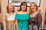 Sally Ryle, Carol Ann O'Donoghue and Lucy Crowe attending the Scoil Eoin Valentine's Ball Fundraiser in the Ballygarry House Hotel on Friday night.
