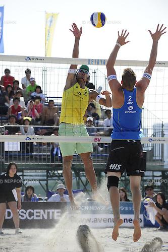 Yoshiumi Hasegawa, MAY 8th, 2011 - Beach Volleyball : JBV Tour 2011 Phiten Beach Volleyball Tokyo Open at Odaiba Beach, Tokyo, Japan. (Photo by Atsushi Tomura/AFLO SPORT) [1035]