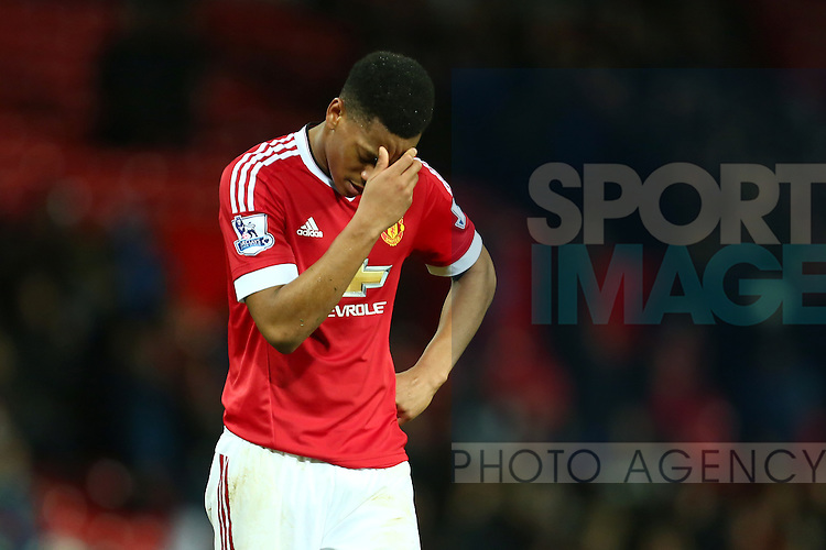 Anthony Martial of Manchester United dejected - Manchester United vs Norwich City - Barclays Premier League - Old Trafford - Manchester - 19/12/2015 Pic Philip Oldham/SportImage