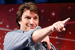 Actor Nathan Fillion speaks during the Grand Finale event for the Tokyo Comic Con 2017 at Makuhari Messe International Exhibition Hall on December 3, 2017, Tokyo, Japan. This is the second year that San Diego Comic-Con International held the event in Japan. Tokyo Comic Con runs from December 1 to 3. (Photo by Rodrigo Reyes Marin/AFLO)