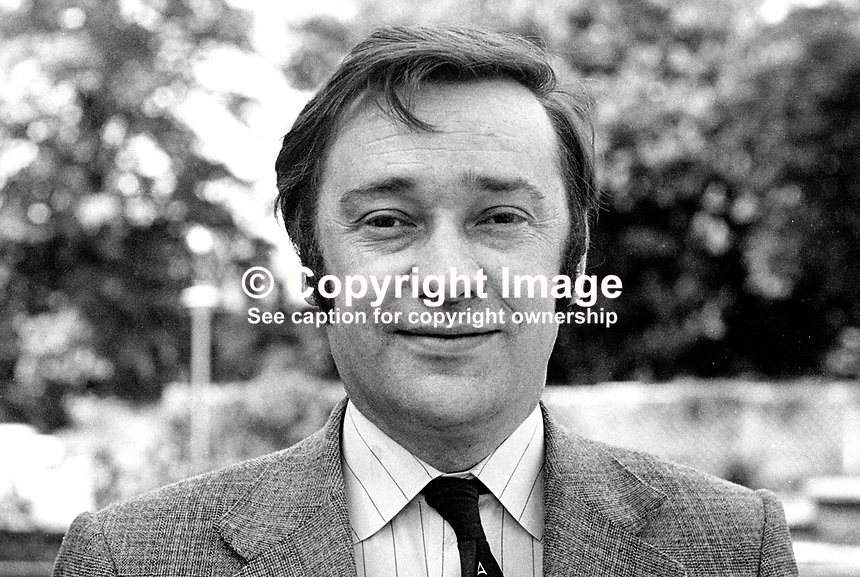 Robert Cooper, candidate, N Ireland Alliance Party, West Belfast, Assembly Election, 197306000445a.<br />