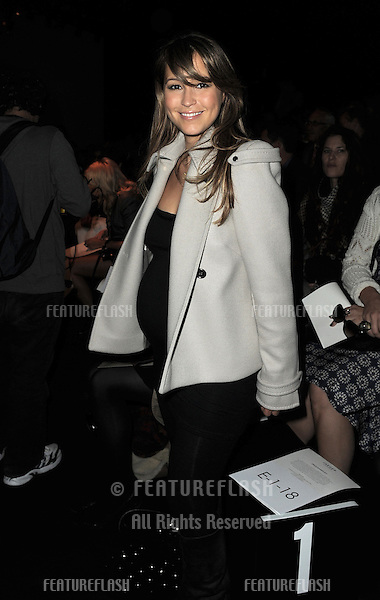 Rachel Stevens at the Jaeger Show for London Fashion Week, Somerset House, London. 21/09/2010  Picture by: Simon Burchell / Featureflash